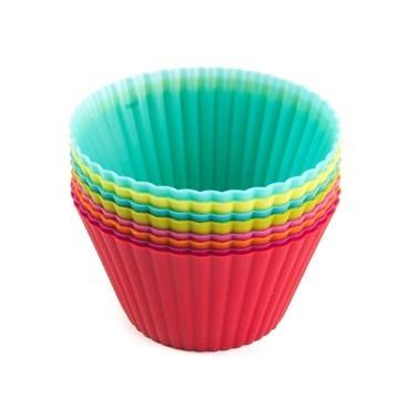 KLT Silikon 8'Li Muffin Kalıp Seti 9 Cm Renkli